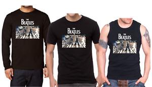 THE BEATLES ABBEY ROAD Men's Shirt Long Sleeve T-shirt Tank Top Rock Band Vest