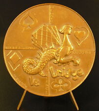 Médaille le bridge non attribuée sc Querolle réflexion sagacité silence medal