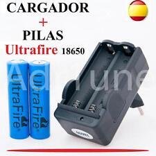 Cargador + baterias UltraFire 18650 3,7v, Pila pilas mas para bateria linterna