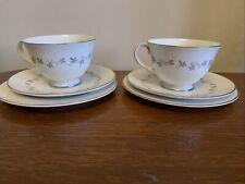VVGC 2 ROYAL DOULTON CADENCE TEA COFFEE CUPS SAUCERS SIDE PLATE TRIOS TC 1007