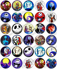 30 X The Nightmare Before Christmas Comestibles De Arroz Oblea papel Cupcake Toppers