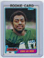 1981 PACKERS Eddie Lee Ivery signed Topps ROOKIE card #117 AUTO Autographed RC