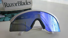 New Oakley  Special Edition  Razorblade sunglasses White/Violet  iridium