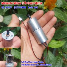 Mabuchi Gear Motor DC 6V-12V 25GA-370 Full Metal GearBox low Speed High Torque