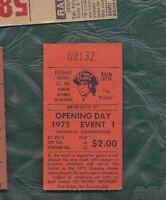 1975 4/11 baseball ticket New York Mets Pittsburgh Pirates Richie Zisk 3 hits