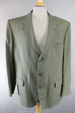 CLASSIC John g.hardy British Made PURA LANA controllato GREEN Tweed Giacca 44 pollici