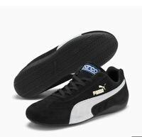 PUMA BLACK Speedcat OG Sparco Motorsport Shoe size 9.5 US AUTHENTIC BRAND NEW
