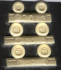 Heinkel He 219 Resin Wheels, Smooth Tread (1/72 True Details 72013)