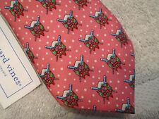 Vineyard Vines Oars & Wreath Pattern Boys' Necktie NWT $49.50  Made in USA Pink