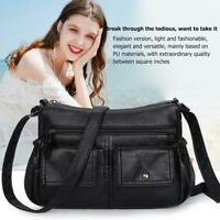Fashion Women Shoulder Messenger Bag PU Leather Soft Handbags Purse Crossbody