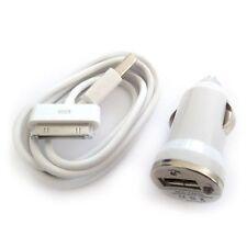 2 EN 1 CARGADOR COCHE + CABLE DATOS USB IPHONE 4 4S  3 3G IPOD MECHERO
