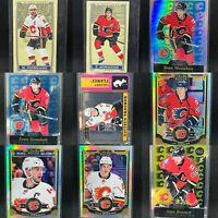 Calgary Flames 19 Card Insert Lot + Iginla Coin🔥Tkachuk Giordano Monahan