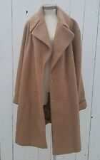 ASOS Camel Jacket Womens Plus Size 16 US Tall Wool Like Trench Coat Blogger
