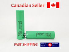 Samsung OEM Original INR 18650 25R 2500MAH 20A GREEN FLAT - 2 Batteries
