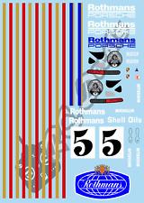 1/10 Decal Rally Set Porsche 911 Rothmans 1983 Tamiya TA01 TA02 TT01