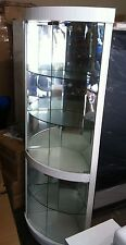 Free Assemble !! A908 High Gloss Polyurethane Display Cabinet Show Case Storage