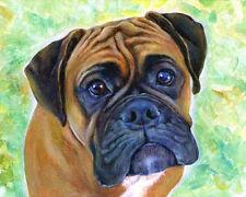 artav Boxer 03 Art Print From Acrylic Painting Canvas