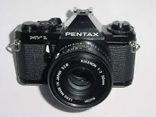 Pentax MV 1 35mm Film SLR Manual Camera with RICOH 50mm F2 Lens * Ex+