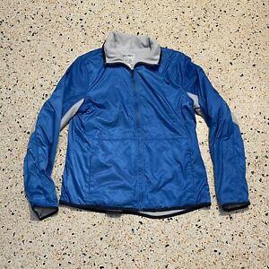 Old Navy Jacket Mens Medium Blue Gray Full Zip WindBreaker Coat Soft Shell
