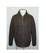 NEW  Eddie Bauer Mens Leather Journeyman Bomber Jacket Dark Brown