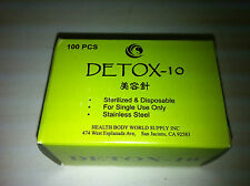 "Detox-10 Facial  #38x0.25""(0.18mmx7mm) puncture needle 100 pcs, no tube"