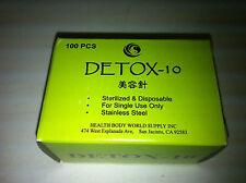 "Detox-10 Facial  #38x0.25""(0.18mmx7mm) acupuncture needle 100 pcs, no tube"