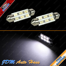 "2pcs White HID Festoon 42mm 1.75"" Interior Dome Map 12V LED Light Bulbs 578"