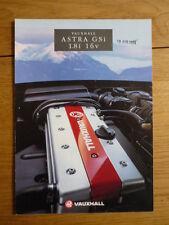 VAUXHALL ASTRA GSi 1.8i 16v Brochure 1993 jm