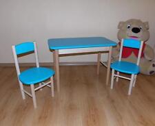 KINDERMÖBEL KINDERSITZGRUPPE KINDER Sitzgruppe Kindertisch MASSIVHOLZ NEU blau