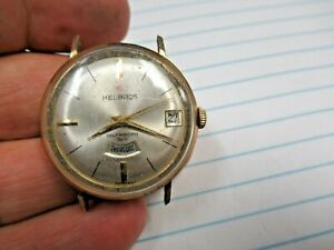 Vintage Helbros Self Winding Automatic PUW 1363 17J Jewels Day/Date Wristwatch