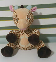 TOMMEE TIPPEE BROWN GIRAFFE PLUSH TOY SOFT TOY GIGGLES TUMMEE TICKLES 28CM