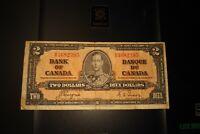 1937 $2 Dollar Bank of Canada Banknote KR3682395