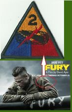 PATCH 2 eme ARMORED DIVISION du film FURY / AIRSOFT PAINTBALL army WWII ww2