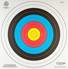 ARCHERY HEAVY DUTY FITA APPROVED PAPER TARGET SET 60CM X 60CM - 10PK