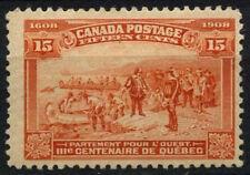 Canadá 1908 SG#194, 15c Marrón Naranja Quebec tricentenario de MH Gato £ 120 #D45247