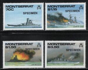 Montserrat 1990 WWII Battle Ships SPECIMEN set Sc# 731-34 NH