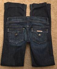 "HUDSON Jeans Women's BOOTCUT FLAP Stretch Low Rise Zip Fly sz 26 28"" W SHORT"