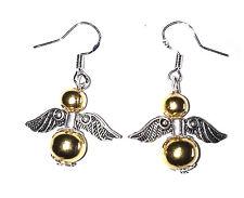 Gold Guardian Angels 925 Sterling Earrings Christmas Bridesmaid Birthday UK
