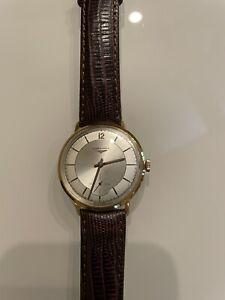 longines  vintage 18k gold mens watch