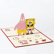 3D Pop Up Greeting Cards SpongeBob & Patrick Birthday Children's Day Christmas
