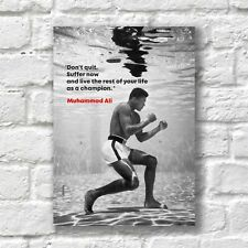Muhammad Ali Poster A4 HQ Print Motivation Inspirational Quote Wall Decor
