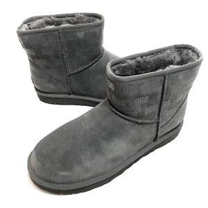 UGG Australia Mens Classic Mini II UGG Print Boots Charcoal Size 11 New 1119391
