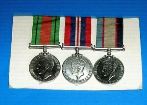 WW11 Group of 3 Medals Named 83187 J.S.BEAGLEHOLE Nice