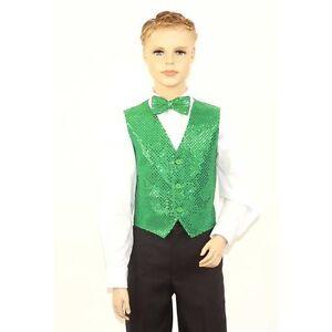 Kids Emerald Green Sequins Vest