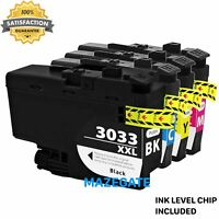 4pk LC3033 Ink Cartridges for Brother LC3033XXL MFC-J805DW MFC-J815DW MFC-J995DW