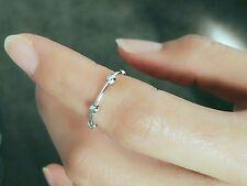 925 sterling silver adjustable open ring midi ring little finger ring knuckle