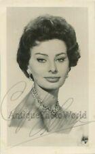 Beautiful Sophia Loren film star vintage hand signed autographed photo