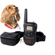 NEW LCD Remote Pet Dog Training Collar 100LV Level Shock Vibration For 10-130lb