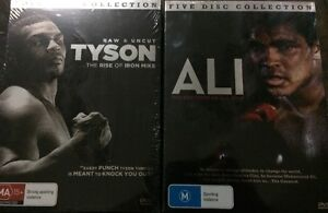 Tyson Rise Of Iron Mike Plus  Ali The Greast Of All Time Brand New Sealed Dvds