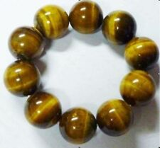 """NEW 16mm Tiger's Eye Stretch Bracelet Round Loose beads Jewely Beads 7.5"""""""
